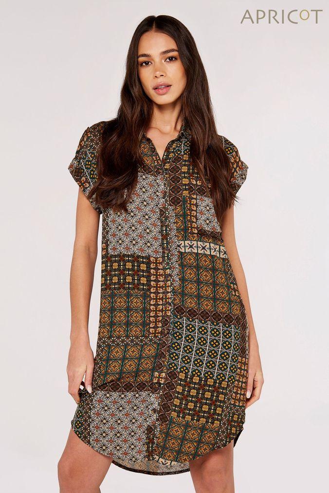 Girls Boden Blue Fun Jersey Woven Dress -  Blue