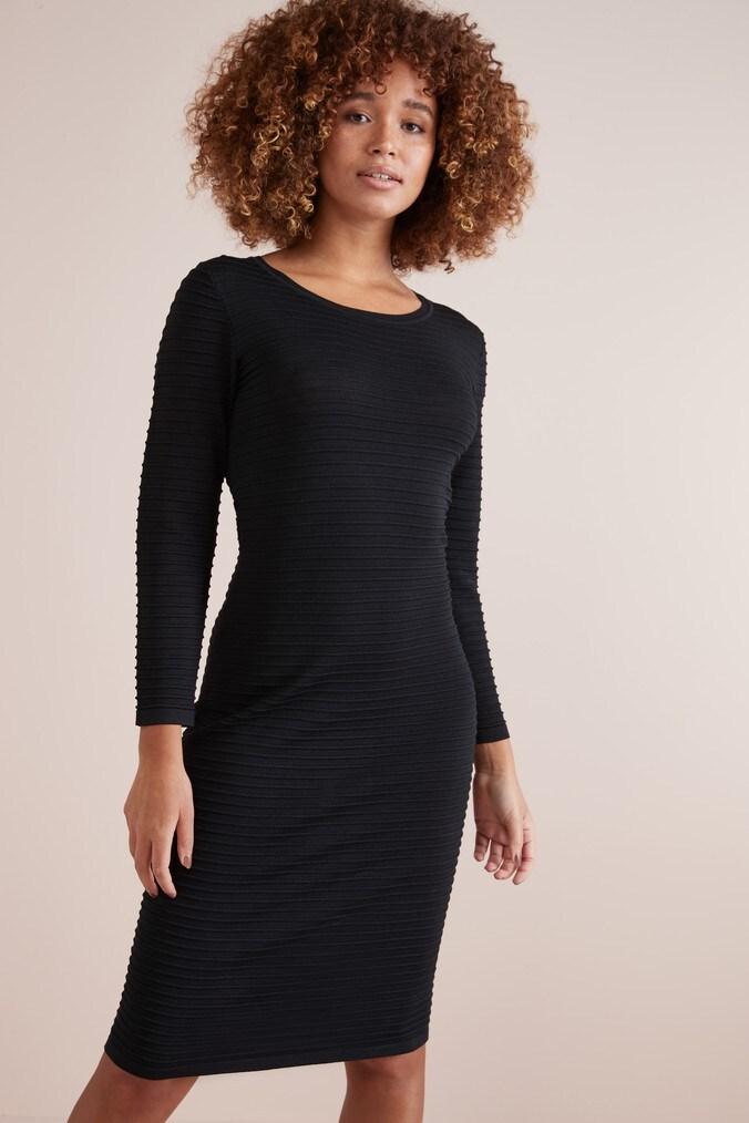 Womens Next Black Knitted Dress -  Black