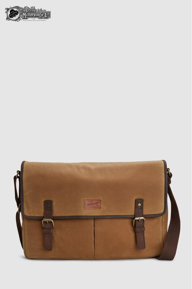 Mens Next Tan British Millerain Briefcase -  Brown