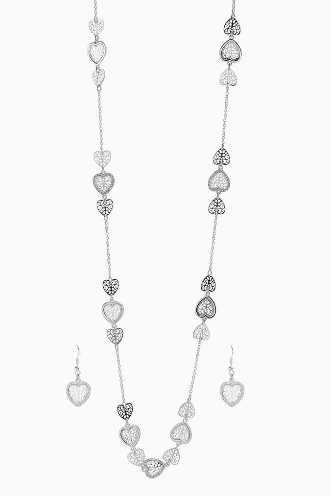 Womens Next Silver Tone Butterfly Detail Rope Necklace -  Silver