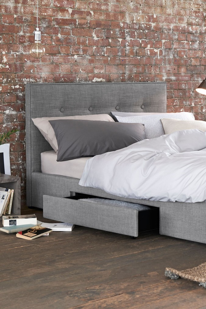 Compare retail prices of 2 Drawer Bedstead Studio Collection By Next - Simple Contemporary Silver to get the best deal online