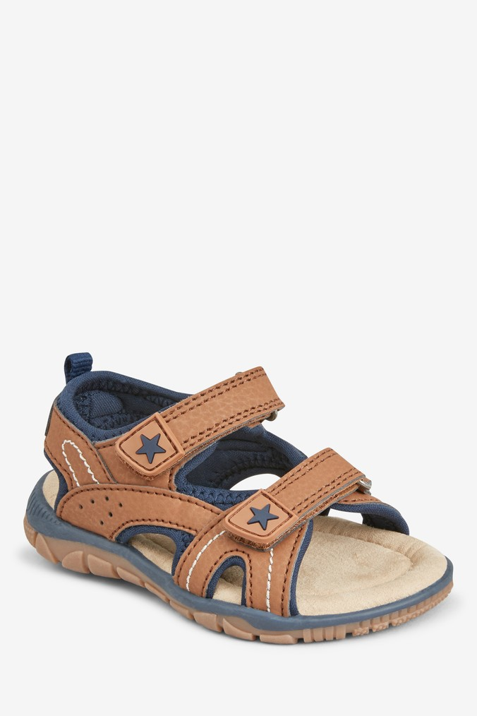 bcba14c2a Boys Next Tan Two Strap Sandals (Younger) - Brown - Next at Westquay - Shop  Online