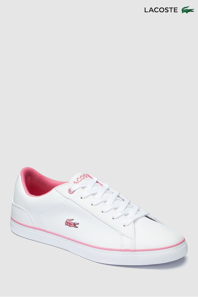 f10246ad7 Girls Lacoste Junior Lerond Trainer - White