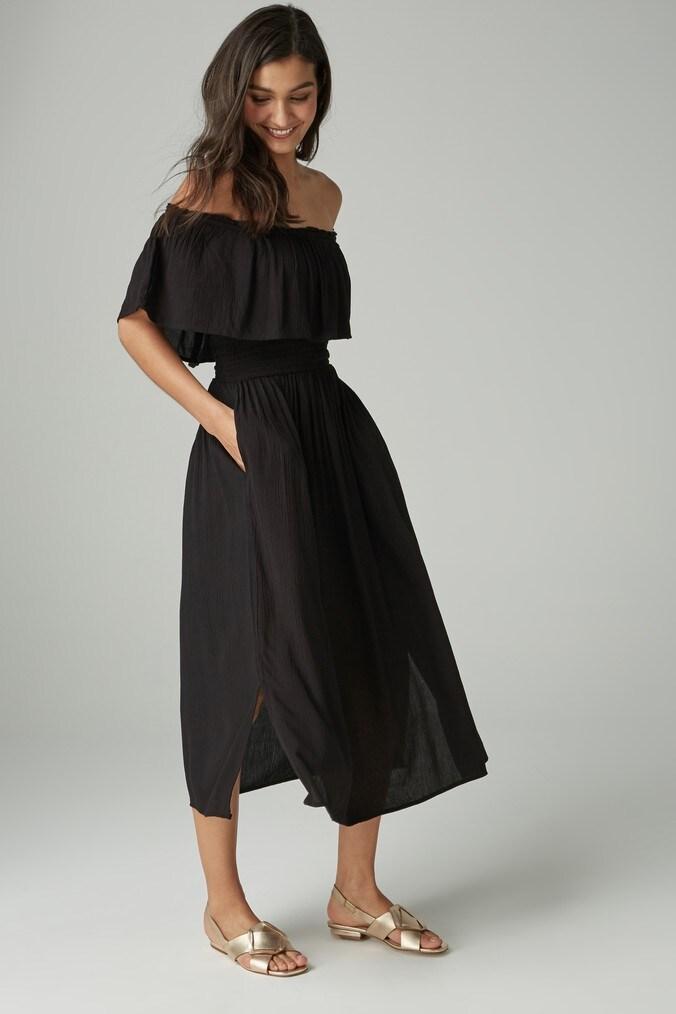 Womens Next Black Off The Shoulder Dress -  Black