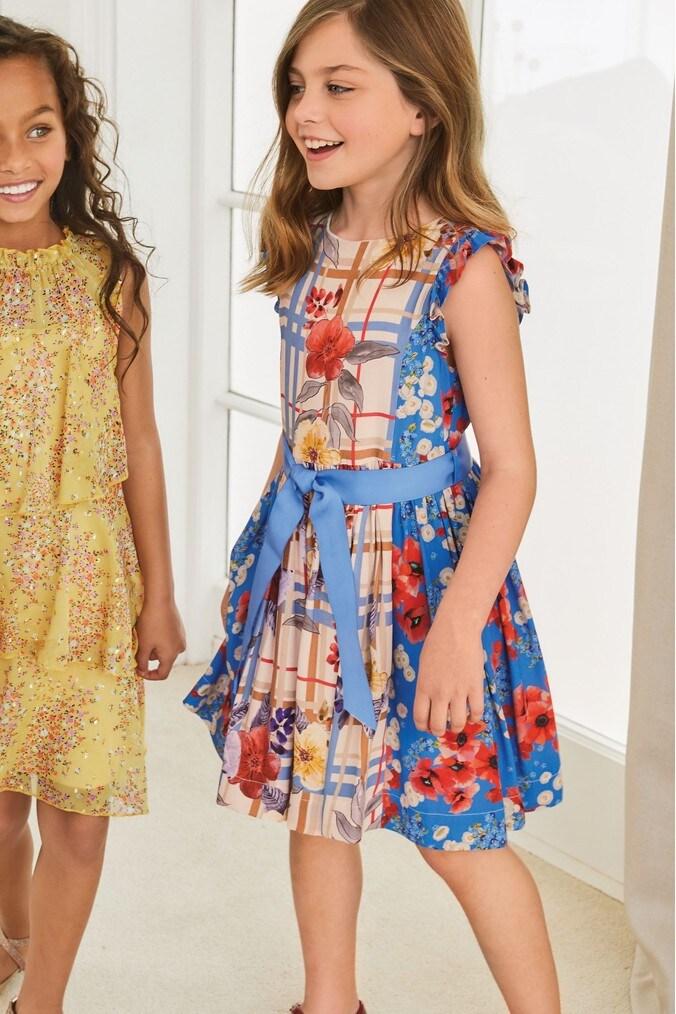 Girls Next Blue Poppy Prom Dress (3-16yrs) -  Blue