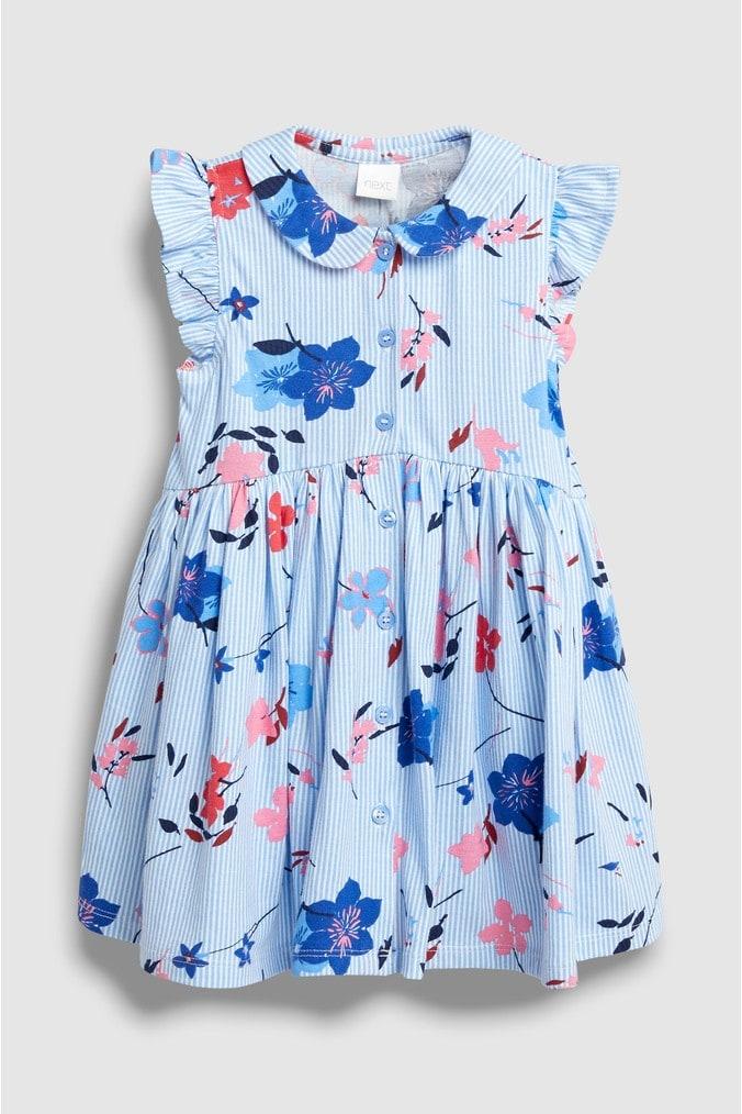 Girls Next Blue Floral Tea Dress (3mths-7yrs) -  Blue