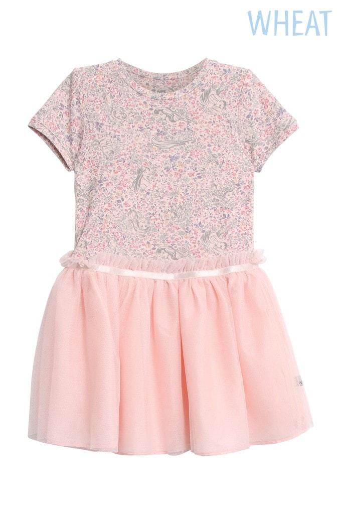Girls Wheat Pink Princess Dress -  Pink