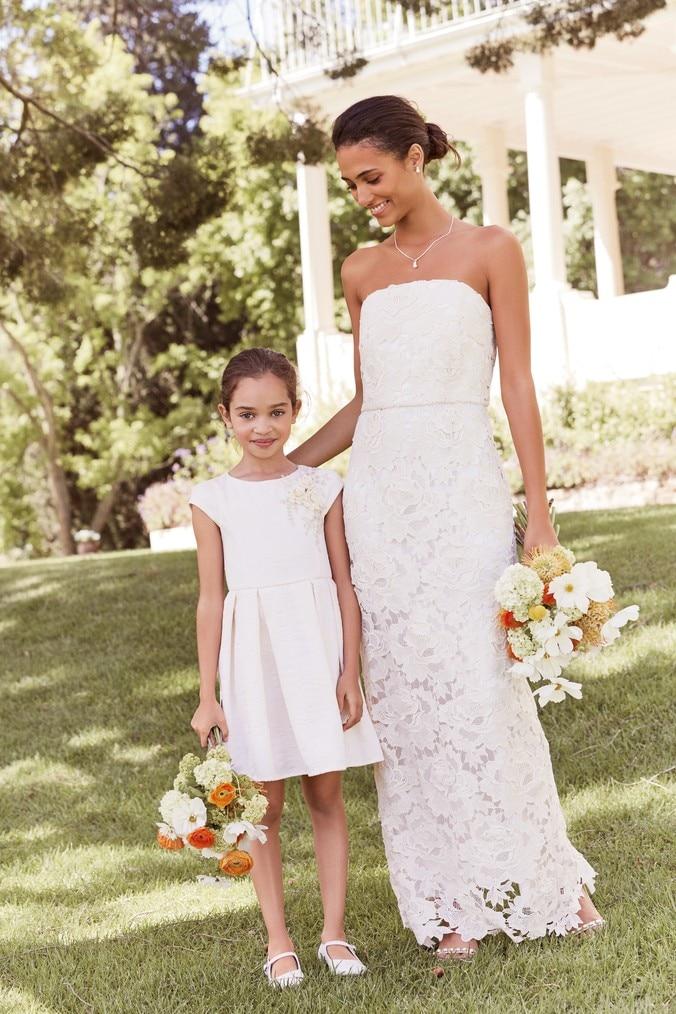 Womens Next Ivory Strapless Lace Bridal Dress -  Cream