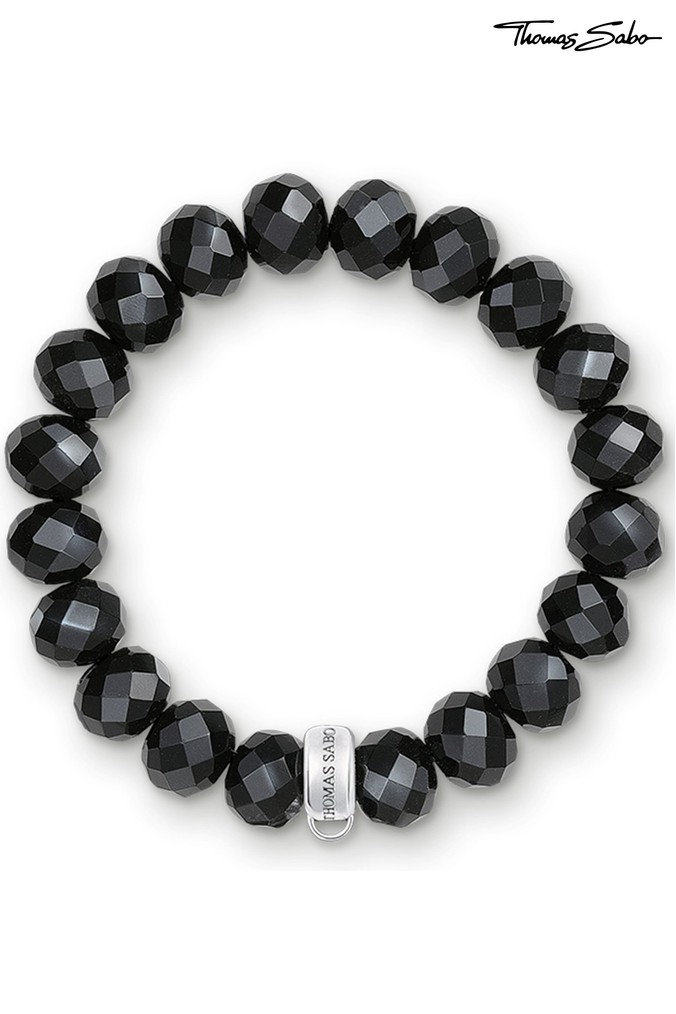 Womens Thomas Sabo Charm Club Charm Bracelet -  Black