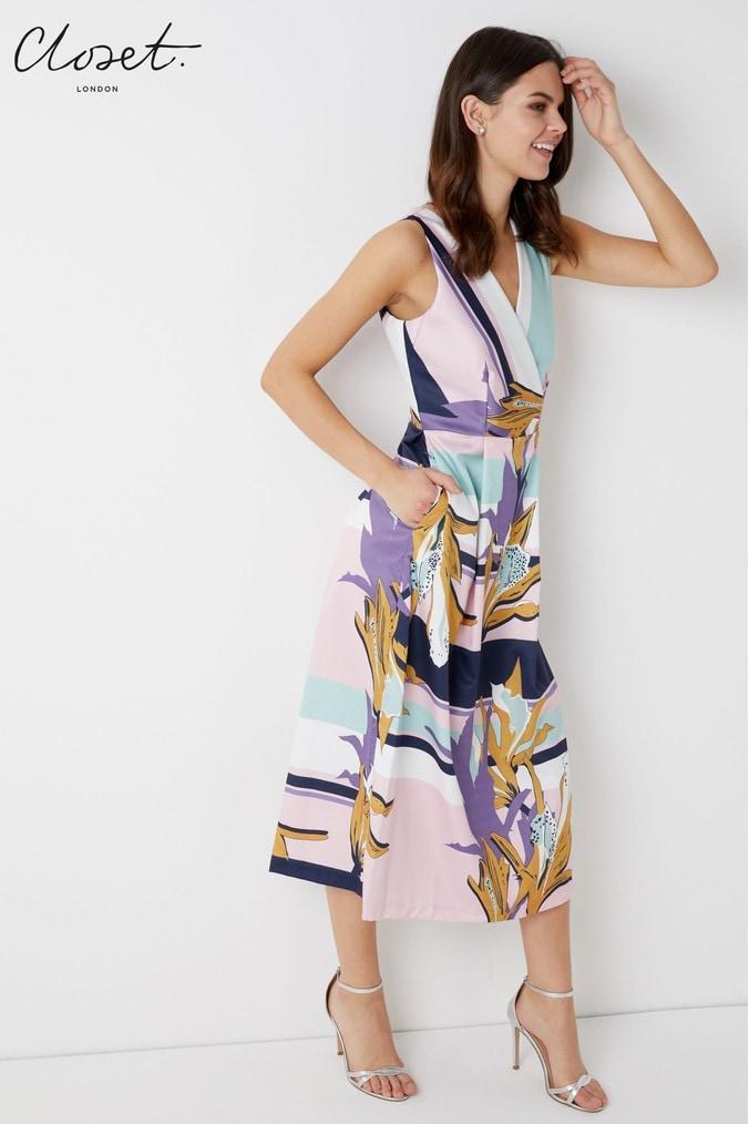 Womens Closet Full Skirt Dress - Pink - Next at Westquay - Shop Online 01e2e155b
