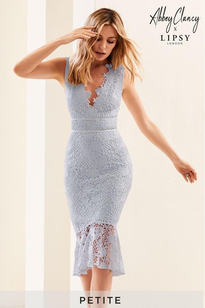 a281c172f3 Lipsy Abbey Clancy X Petite Lace Midi Dress - 14 -