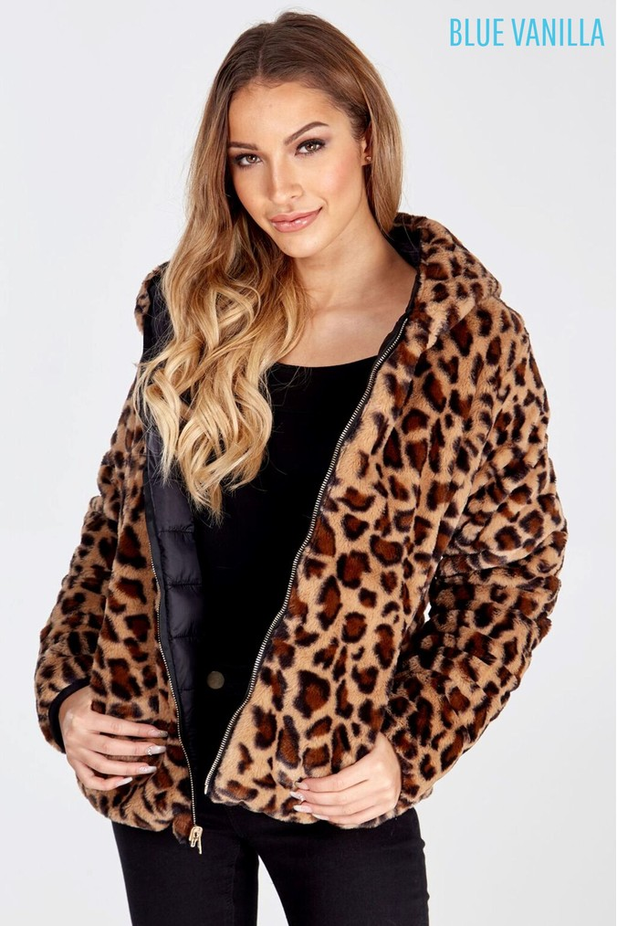 6a29611bf933 Womens Blue Vanilla Reversible Hooded Padded Coat - Black - Next at  Westquay - Shop Online