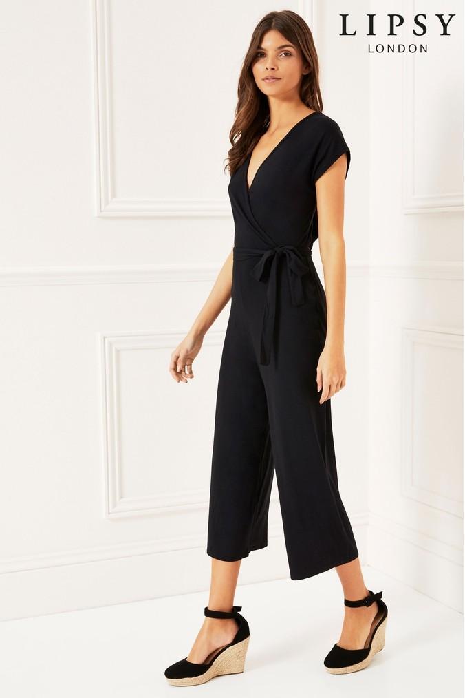 2d54994fc2 lipsy wrap culotte jumpsuit - 18 - black