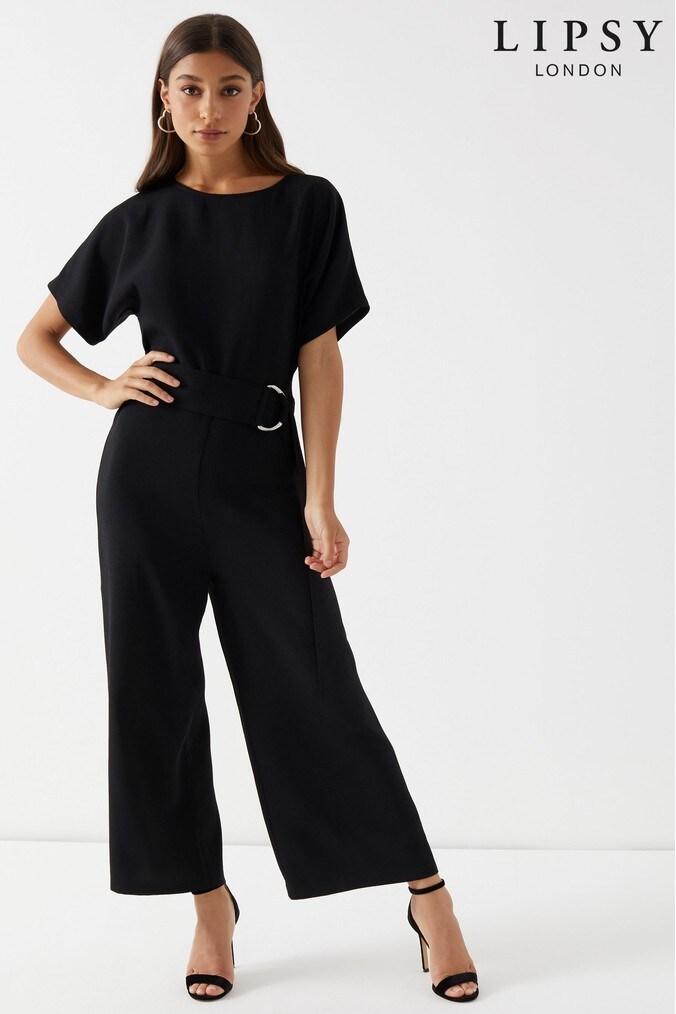 6a2f5616c6 lipsy petite jumpsuit - 18 - black