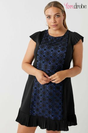 womens lovedrobe curve panelled dress -  black