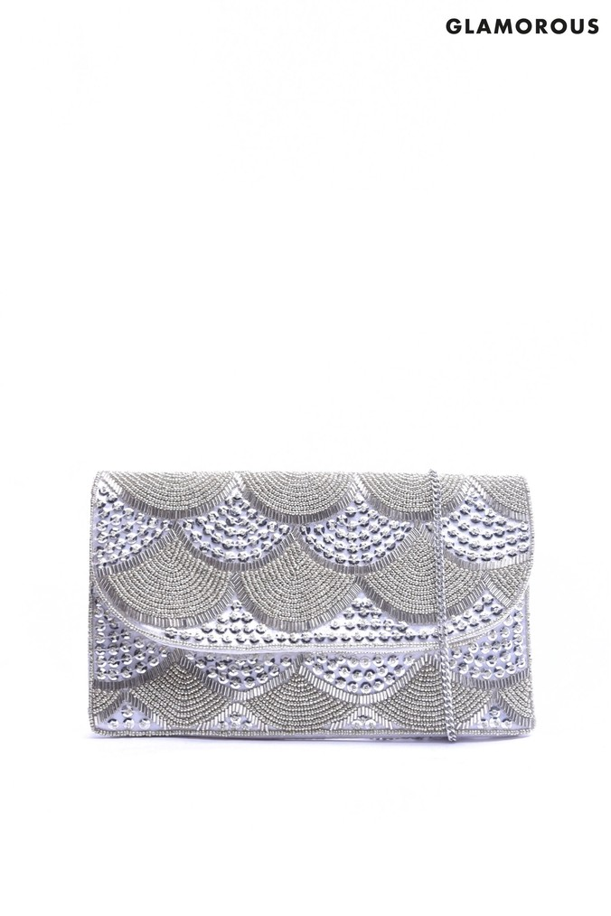 71eb83cad871 Womens Glamorous Embellished Evening Clutch Bag - Silver - £28.00 -  Bullring   Grand Central
