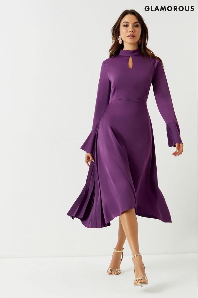 73adbfaff981 Womens Glamorous Studio Midi Dress - Purple