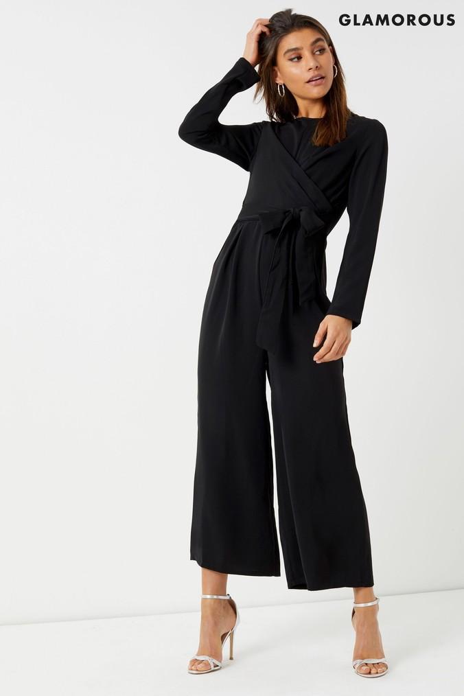 d19708b1f7 Womens Glamorous Studio Culotte Jumpsuit - Black