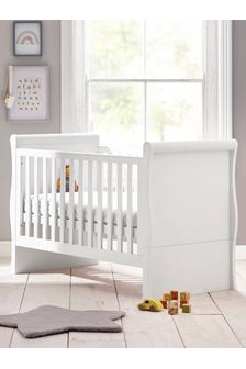 Amelia White Sleigh Cot Bed