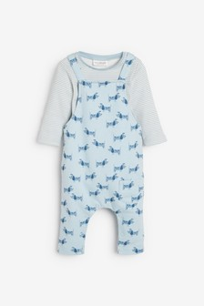 Dinosaur Jersey Dungarees And Bodysuit Set (0mths-2yrs)