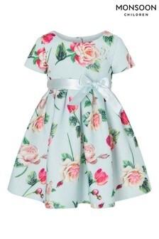 שמלה מבד סקובה פרחונית לתינוקות של Monsoon