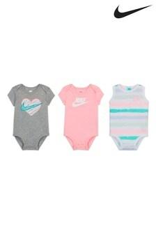 Nike Baby Pastel Bodysuits 3 Pack
