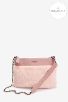 Charabia Pink Faux Fur Cross Body Bag