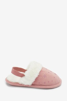 Warm Lined Mule Slippers