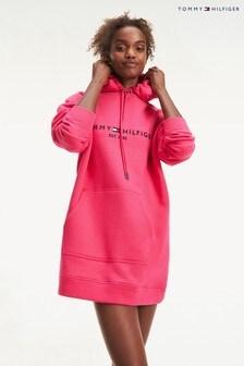 Tommy Hilfiger Pink Essential Logo Hoody Dress