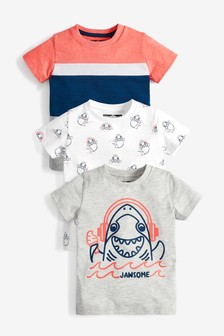 3 Pack Shark T-Shirts (3mths-7yrs)