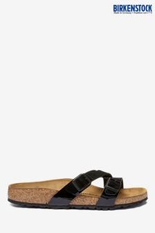 Birkenstock® Black Patent Yao Sandals