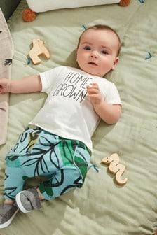 סט טרנינג וחולצת טי עם כיתוב של GOTS Organic (0 חודשים עד גיל 2)
