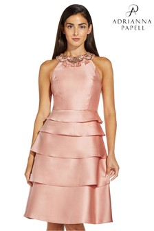שמלהבאורךמתחת לברךשלAdrianna Papell דגםMikado בורוד