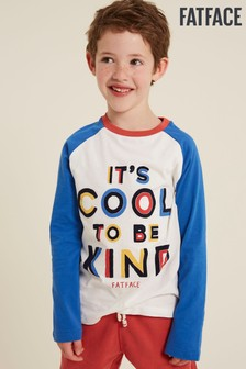 FatFace Natural Cool To Be Kind Graphic T-Shirt