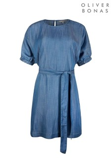 Oliver Bonas Blue Chambray Blue Mini Tunic Dress