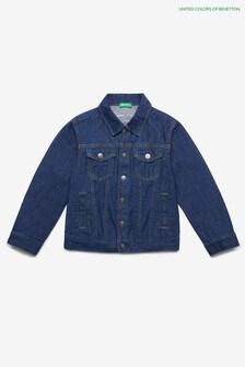 Benetton - Giacca di jeans blu