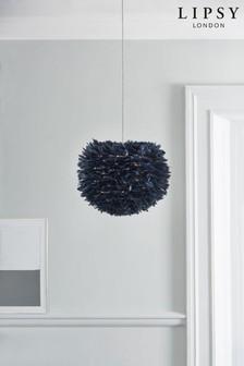 غطاء مصباح سهل التركيب أزرق ريش من Lipsy