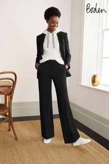 מכנסיים מבד פונטה של Boden דגם Hampshire בשחור