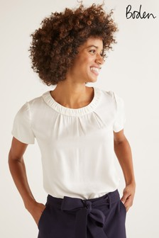Boden White Carey Top