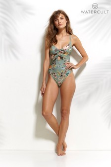 Watercult Boho Blossom Tie Front Swimsuit