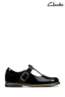 Черные туфли Clarks Drew Shine T