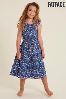 فستان ماكسي أزرق طباعة نحلRuby منFatFace