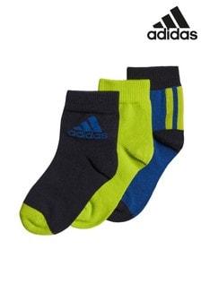 מארז שלישיית גרביים שלadidas עם גימור מעוגל