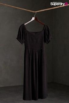שמלת מידי טוניקה שחורה שלSuperdry