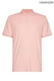 Calvin Klein Pink Soft Interlock Slim Fit Polo
