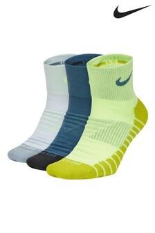 Lot de 3 paires de chaussettes Nike Crew blanc/noir/jaune