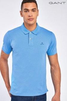 GANT Poloshirt mitKontrastkragen, Blau