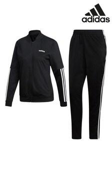 adidas zwart Linear Back To Basic trainingspak met 3 strepen