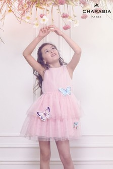 Charabia Pink Butterfly Dress