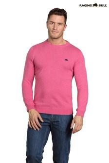 Raging Bull ピンク カシミア クルーネックセーター